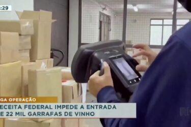 Receita federal impede a entrada de 22 mil garrafas de vinho