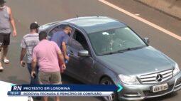 Motoristas protestaram em Londrina pelo aumento no combustível