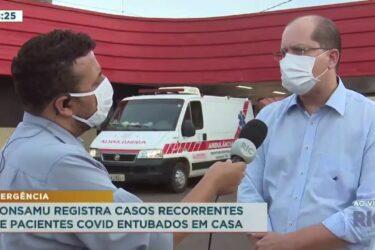 Consamu registra casos recorrentes de pacientes COVID entubados em casa