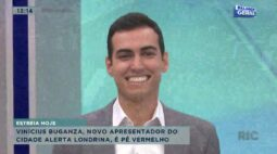 Vinícios Buganza, novo apresentador do Cidade Alerta Londrina, é pé vermelho