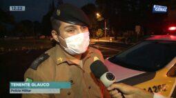 Submetralhadora caseira e drogas apreendidas pela Polícia Militar