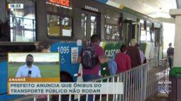 Prefeito anuncia que ônibus do transporte público não rodam a partir de dia 2 de março