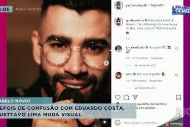 Depois de confusão com outro cantor Gusttavo Lima muda visual