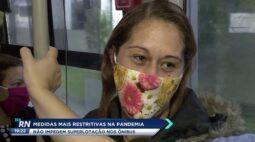 Medidas mais restritivas na pandemia não impedem superlotação nos ônibus