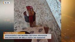 Reciclador encontra granada em Bela Vista do Paraíso