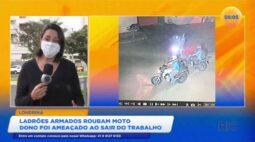 Ladrões armados roubam moto de vítima que deixava o trabalho