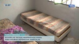 Quadrilha invade propriedade rural para roubar defensivos agrícolas