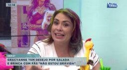 """Gracyanne tem desejo por salada e brinca com fãs """"não estou grávida"""""""
