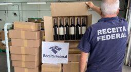 Receita Federal realiza maior operação da história no combate à entrada irregular de vinhos no país