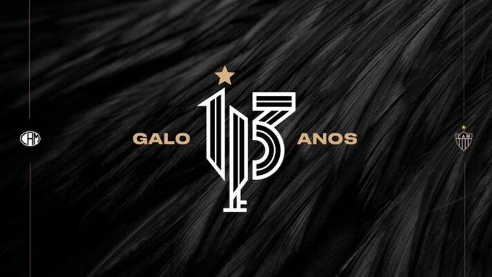 Atlético-MG comemora seu 113º aniversário com escudo especial