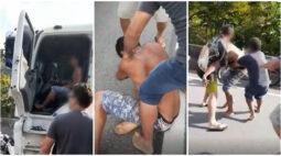 """Caminhoneiro que causou acidente na BR-101 segue preso após ser linchado: """"Dupla tentativa de homicídio"""""""