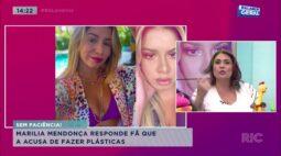 Marília Mendonça responde fã que a acusa de fazer plásticas
