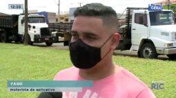 Caminhoneiros e motoristas de aplicativos protestam na PR-445 pelo reajuste no combustível