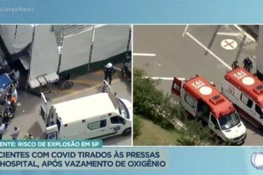 Após vazamento de gás, pronto-socorro é esvaziado e pacientes com covid-19 estão sendo transferidos