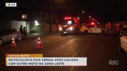 Motociclista fica ferida após colisão com outra moto na zona leste