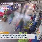 Dupla assalta mercado em Maringá e suspeitos são detidos pela polícia
