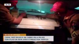 Casal com filho de sete anos é preso com 60 quilos de drogas na PR-323