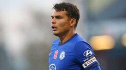 Thiago Silva se recupera de lesão e volta aos treinos no Chelsea