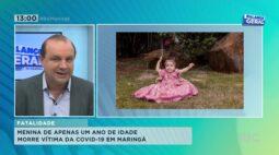 Menina de apenas 1 ano de idade morre vítima da COVID 19 em Maringá