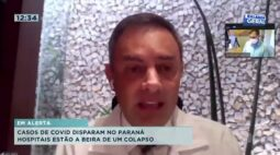 Casos de COVID disparam no Paraná e hospitais estão a beira de um colapso