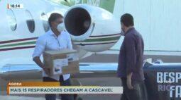 Mais 15 respiradores chegam em Cascavel: COVID-19
