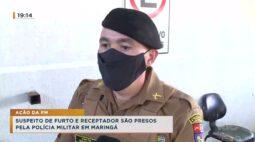 Suspeito de furto e receptador são presos pela polícia em Maringá