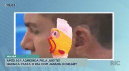 """Após ser """"agredida"""" por Judite, Quenga passa o dia com Jasson Goulart"""