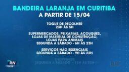 Curitiba mantém bandeira laranja e decreto vale até 22 de abril