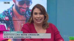 Gusttavo Lima reúne amigos em iate com Andressa Suita