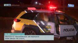 Grávida é abandonada em rodovia após briga de casal na PR-323