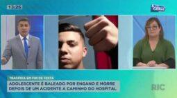 Adolescente é baleado por engano e morre depois de um acidente a caminho do hospital