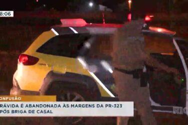 Grávida é abandonada às margens da PR-323 após briga de casal