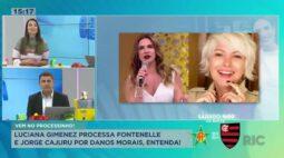 Luciana Gimenez processa Fontenelle e Jorge Cajuru por danos morais, entenda!