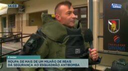 Roupa de mais de um milhão de reais dá segurança ao esquadrão antibomba
