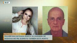 Mulher encontrada morta às margens de rodovia no Paraná, suspeito também está morto