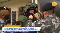 É daqui: roupa de mais de um milhão de reais dá segurança ao esquadrão antibomba