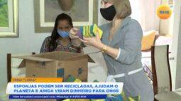 Esponjas podem ser recicladas, ajudam o planeta e ainda viram dinheiro para ongs