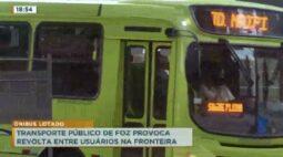 Transporte público de foz provoca revolta entre usuários na fronteira