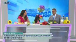 Junior Lima e Monica Benini anunciam a vinda do segundo filho