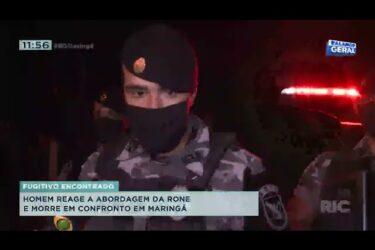Homem reage a abordagem da RONE e morre em confronto em Maringá