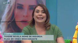 Thaeme revela nome de segunda filha em vídeo emocionante