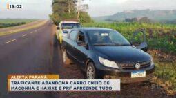 Traficante abandona carro com maconha e haxixe na região de Maringá