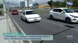 Atravessar a avenida Comendador Franco virou um pesadelo para moradores