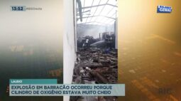 Explosão em barracão ocorreu porque cilindro de oxigênio estava muito cheio