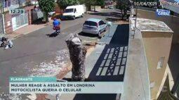 Mulher reage a assalto em Londrina e motociclista queria o celular
