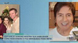 Sertanejo Xororó mostra sua habilidade como marceneiro e faz brinquedos para neto