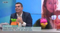 Luana Piovani reencontra filhos em Portugal após dois meses