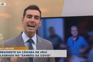 """Presidente da câmara de Uraí flagrado no """"sambão da COVID"""""""