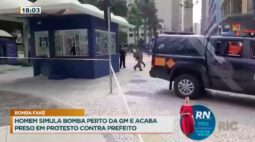 Homem simula bomba perto da GM e acaba preso em protesto contra prefeito