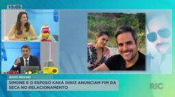Simone e o esposo Kaká Diniz anunciam fim da seca no relacionamento
